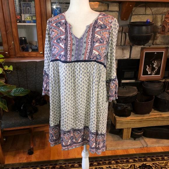 Knox Rose size XLarge boho style dress 100% rayon